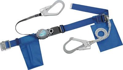ツヨロン ランヤード2本式安全帯 青色【TRL-2-593S-BL4-BP】(保護具・安全帯)