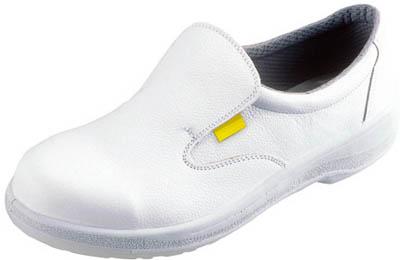 シモン 静電安全靴 短靴 7517白静電靴 28.0cm【7517WS-28.0】(安全靴・作業靴・静電安全靴)