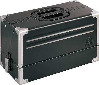 TONE ツールケース(メタル) V形3段式 マットブラック【BX331BK】(工具箱・ツールバッグ・スチール製工具箱)