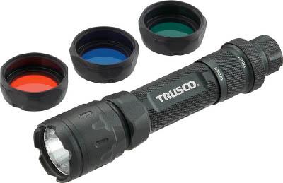 TRUSCO アルミLEDライト 194ルーメン カラーレンズ3色付【TAT-E0C2L】(作業灯・照明用品・懐中電灯)