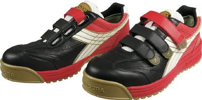 ディアドラ DIADORA 安全作業靴 ロビン 黒/白/赤 26.5cm【RB213-265】(安全靴・作業靴・プロテクティブスニーカー)
