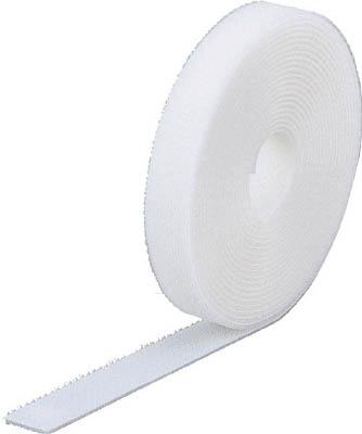 TRUSCO マジック結束テープ 両面 白 40mm×25m【MKT-40250-W】(梱包結束用品・結束バンド)【S1】