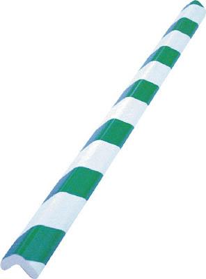 TRUSCO 安心クッションL字型小 緑・白 10本入り【T10AC-102】(安全用品・標識・安全クッション)