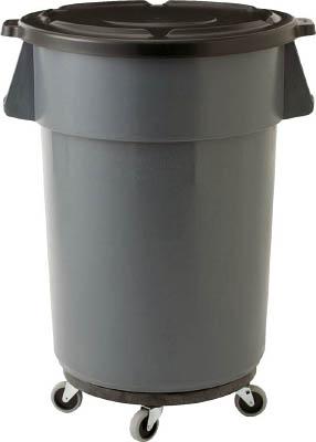 ラバーメイド ブルート丸型コンテナ 166.5L グレー【2643GRAY】(清掃用品・ゴミ箱)