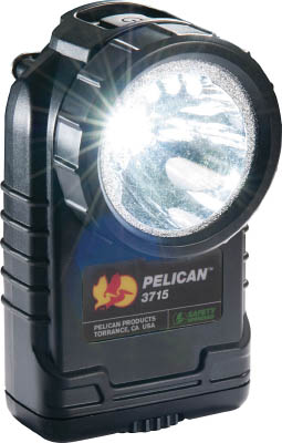 PELICAN 3715 LEDフラッシュライト 黒【3715LEDBK】(作業灯・照明用品・懐中電灯)