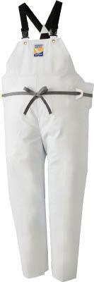 ロゴス マリンエクセル 胸当て付きズボン膝当て付きサスペンダー式 ホワイト L【12063612】(保護具・作業服)【S1】