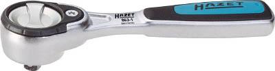 HAZET ラチェットハンドル(丸型ヘッド・精密送りタイプ) 差込角6.35mm【863-1】