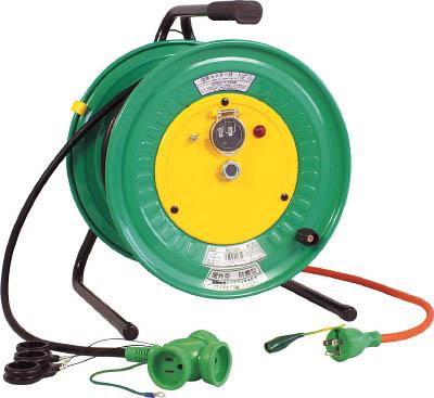 日動 電工ドラム 防雨防塵型びっくリール100V アース付 30m【RBW-E30S】(コードリール・延長コード・コードリール逆配電型)