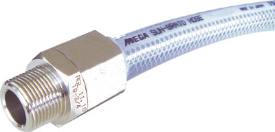 十川 MEGAサンブレーホース(専用継手付)【SB-15-10-TH-15-1/2B】(ホース・散水用品・ホース)