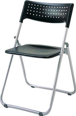 アイリスチトセ アルミ折りたたみ椅子(スタッキング) アルミパイプ ブラック【SS-A027-BK】(オフィス家具・会議用チェア)【S1】