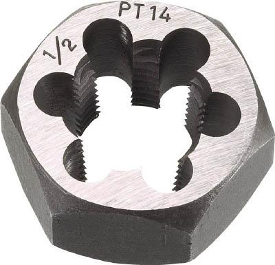TRUSCO 六角サラエナットダイス PT7/8-14【TD6-7/8PT14】(ねじ切り工具・ねじ山修正工具)