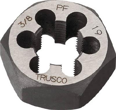 TRUSCO 六角サラエナットダイス PF7/8-14【TD6-7/8PF14】(ねじ切り工具・ねじ山修正工具)【S1】