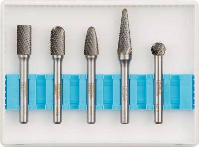 TRUSCO 超硬バーセットCシリーズ 軸6mm 刃径9.5mm 5本セット【TB-C095-5S】(研削研磨用品・超硬バー)