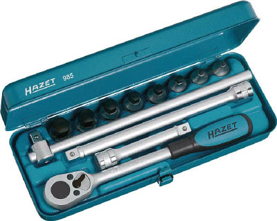 HAZET ヘキサゴンソケットレンチセット(差込角12.7mm)【985】【S1】