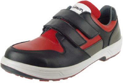 シモン トリセオシリーズ 短靴 赤/黒 24.0cm【8518RED/BK-24.0】(安全靴・作業靴・安全靴)