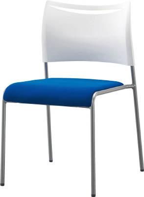 アイリスチトセ ミーティングチェア ライタス4 布張り ブルー【LTS-4F-BL】(オフィス家具・会議用チェア)