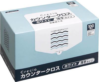 クレシア カウンタークロス 薄手タイプ ホワイト【65402】(労働衛生用品・食品衛生用品)