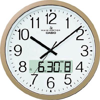 カシオ 電波掛け時計【IC-4100J-9JF】(OA・事務用品・掛時計)