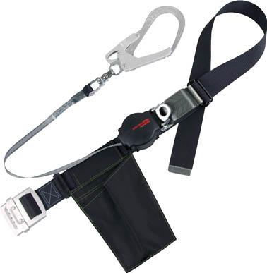 ツヨロン ワンハンドリトライト安全帯 黒 L寸【ORL-593SV-BLK-L-BP】(保護具・安全帯)