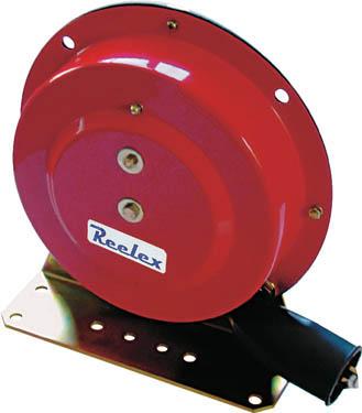 Reelex 自動巻アースリール据え置き取付タイプ50Aアースクリップ付【ER-415】(コードリール・延長コード・電源リール)