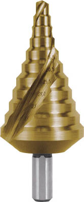 RUKO 2枚刃スパイラルステップドリル 40.5mm チタン【101-090T】(穴あけ工具・ステップドリル)【S1】