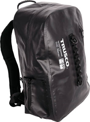 TRUSCO 防水ターポリンデイパック ブラック【TDYB-BK】(工具箱・ツールバッグ・ツールホルダ・バッグ)