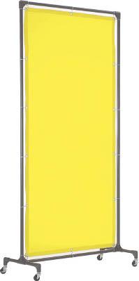 TRUSCO 溶接遮光フェンス 1515型単体 キャスター 緑【YF1515-GN】(溶接用品・溶接遮光フェンス)