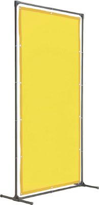 TRUSCO 溶接遮光フェンス 1515型単体 固定足 深緑【YF1515K-DG】(溶接用品・溶接遮光フェンス)