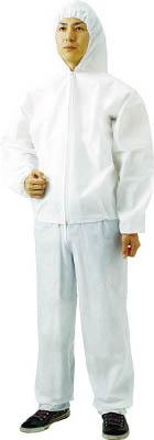 TRUSCO 不織布使い捨て保護服フード付ジャンバー 3L(60入)【TPC-F-3L-60】(保護具・保護服)