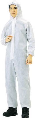 TRUSCO 不織布使い捨て保護服L(40入)【TPC-L-40】(保護具・保護服)