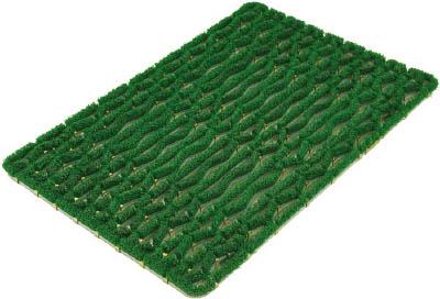 ミヅシマ ニューマットG型 600×900 緑【402-0950】(床材用品・マット)