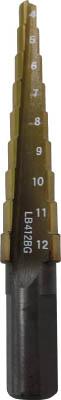 エビ ステージドリル コーティング 9段 軸径10mm【LB412BG】(穴あけ工具・ステップドリル)