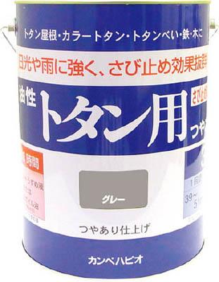 ALESCO カンペ 油性トタン用3Lグレー【130-5093】(塗装・内装用品・塗料)