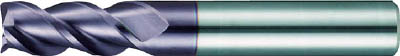 強ねじれスクエアエンドミル(3枚刃)【3636 020.000】(旋削・フライス加工工具・超硬スクエアエンドミル)