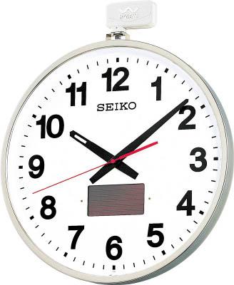 SEIKO ソーラー屋外用大型電波掛時計 527×450×78 金属枠【SF211S】(OA・事務用品・掛時計)(代引不可)