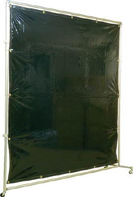 【在庫一掃】 遮光フェンスアルミパイプ 接続キャスター 吉野 ダークグリーン【YS-22JC-DG】(溶接用品・溶接遮光フェンス):リコメン堂 2×2-DIY・工具
