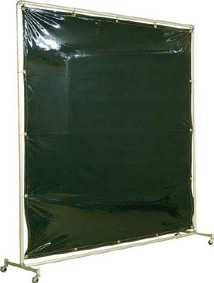吉野 遮光フェンスアルミパイプ 2×2 単体キャスター ダークグリーン【YS-22SC-DG】(溶接用品・溶接遮光フェンス)