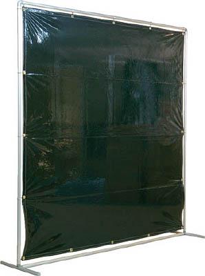 吉野 遮光フェンスアルミパイプ 2×2 単体固定 ダークグリーン【YS-22SF-DG】(溶接用品・溶接遮光フェンス)