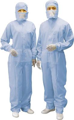 ブラストン ケミカルリサイクルカバーオール-青-S【BSC-12400E-B-S】(理化学・クリーンルーム用品・クリーンルーム用ウェア)