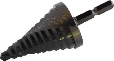 TOP 電動ドリル用六角シャンクスパイラルステップドリル【ESD-630S】(穴あけ工具・ステップドリル)
