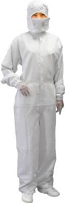 ブラストン ケミカルリサイクルカバーオール-白-L【BSC-12400E-W-L】(理化学・クリーンルーム用品・クリーンルーム用ウェア)