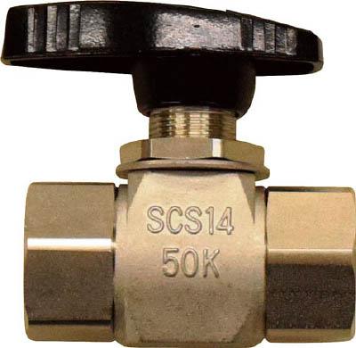 フジキン ステンレス鋼製4.90MPaパネルマウント式ボール弁【PUBV-15B】(管工機材・バルブ)