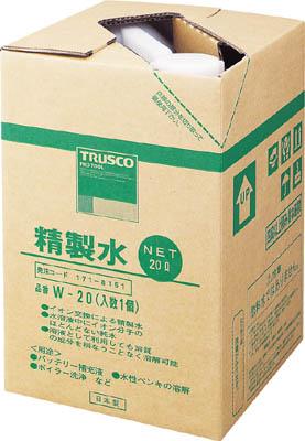 TRUSCO 精製水 20L W20【ポイント10倍】
