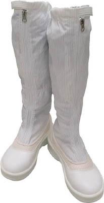 ゴールドウイン 静電安全靴ファスナー付ロングブーツ ホワイト 24.5cm PA9850W24.5