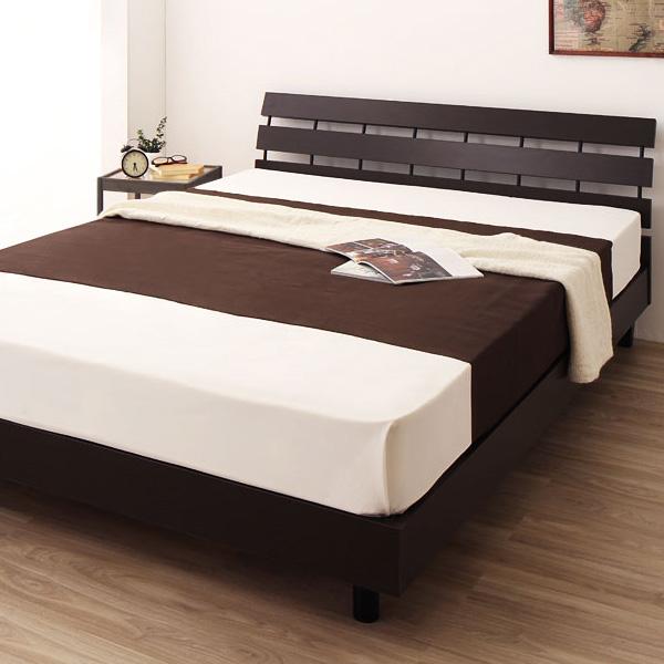 国産 日本製 ベッド ダブル パネル 脚付き コンパクト並べて使える デザインベッド 北欧 脚付き パネル デザインベッド【Torukka】トルッカ ダブル 2つ折りボンネルコイル マットレス付き(代引き不可)【送料無料】