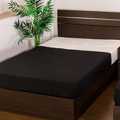ベッド ダブル ホテルスタイルベッド 二つ折りポケットコイルマットレス付(代引不可)【送料無料】【int_d11】