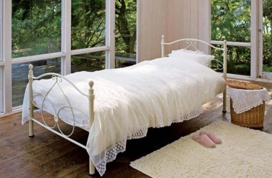 姫 ベッド シングル 家具 ロマンティック 姫系 アイアン ベッド 【フレームのみ】(代引不可)【送料無料】