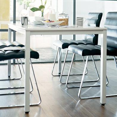 ダイニングテーブル ガラス ガラステーブル モダン ブラックガラス ダイニング テーブル (W135)(代引不可)【送料無料】