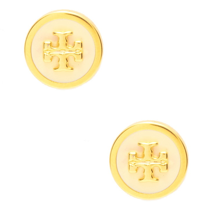 Tory Burch ピアス LACQUERED RAISED LOG STUD EAARING 40827 レディース NEW IVORY/TORY GOLD 119 トリーバーチ【送料無料】