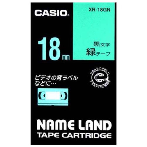 新発売 カシオ計算機 ネームランド用テープカートリッジ XR-18GN 正規品スーパーSALE×店内全品キャンペーン